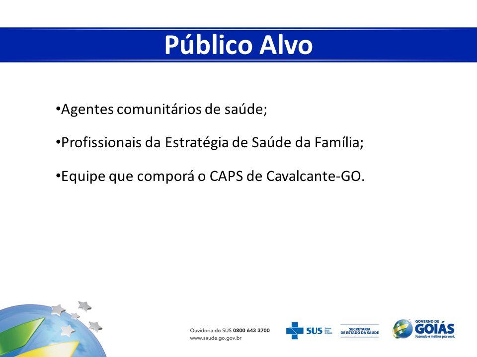 Público Alvo Agentes comunitários de saúde;
