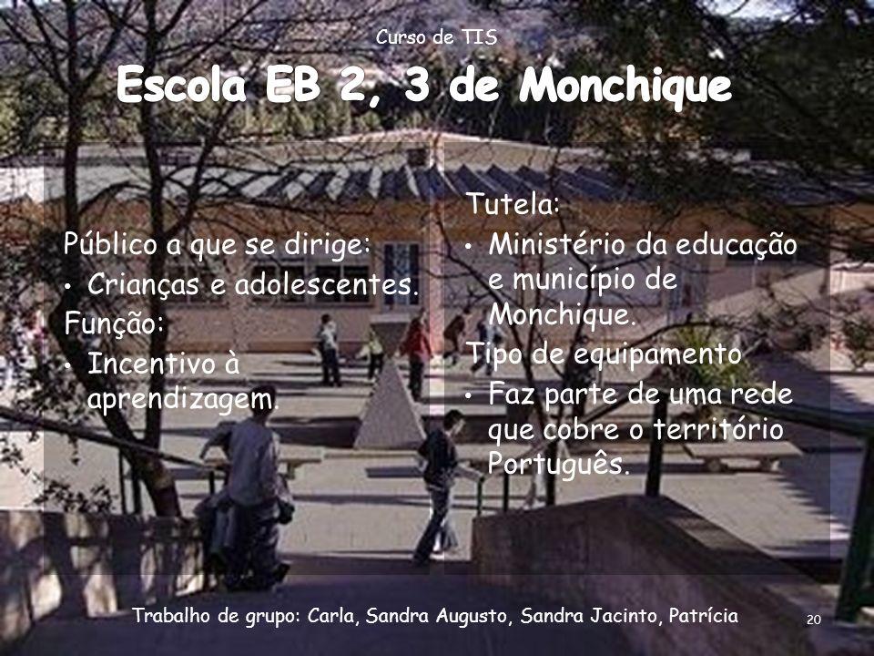 Escola EB 2, 3 de Monchique Público a que se dirige: