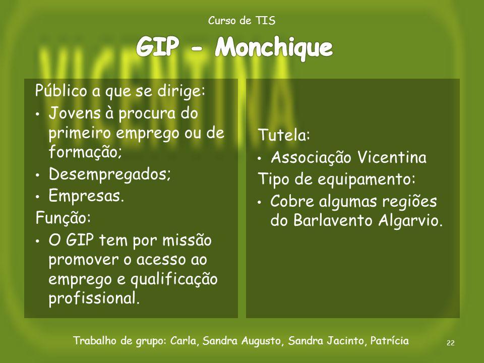 GIP - Monchique Público a que se dirige: