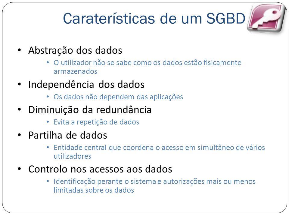 Caraterísticas de um SGBD