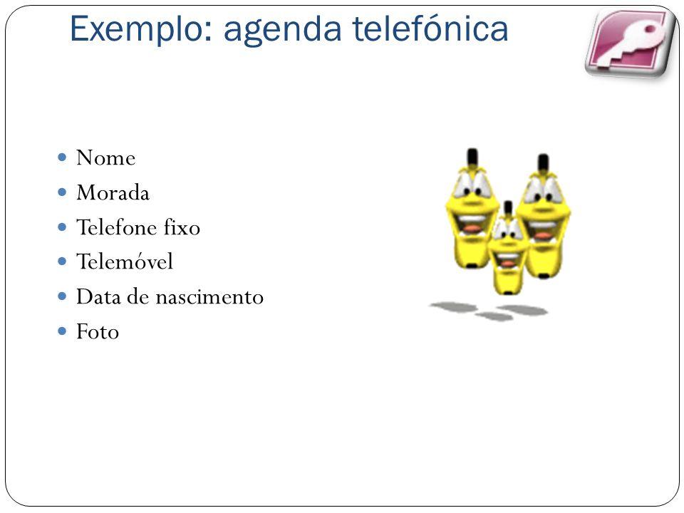 Exemplo: agenda telefónica