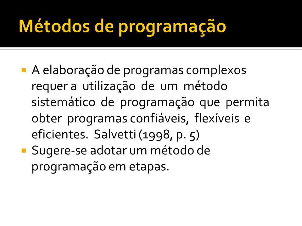 Métodos de programação