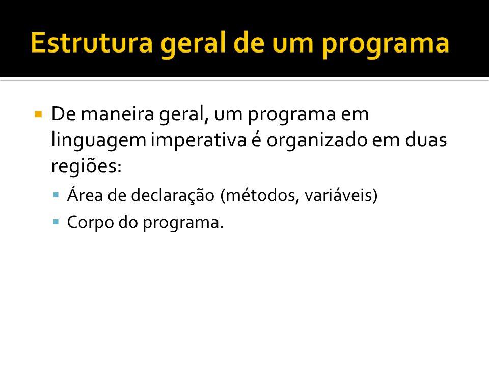 Estrutura geral de um programa
