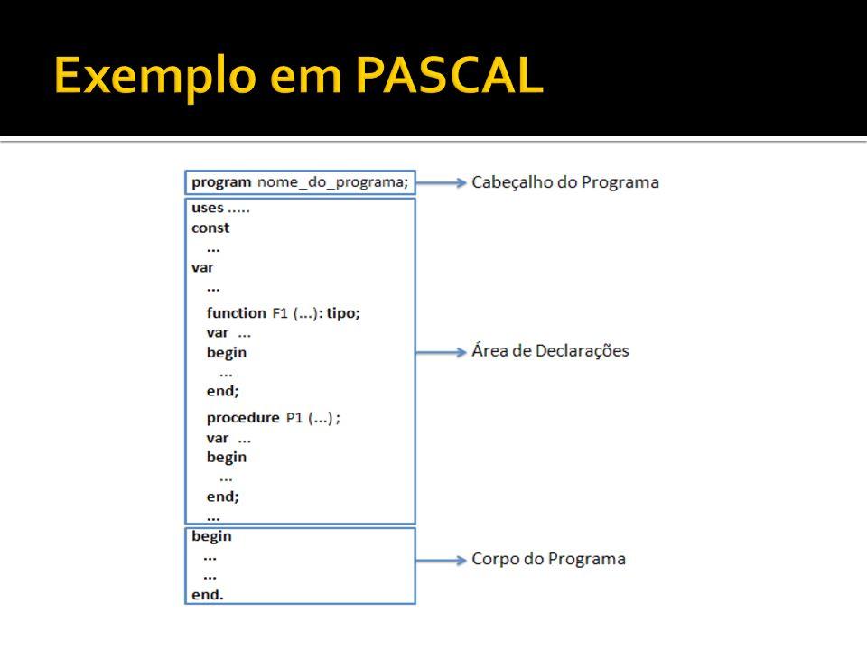 Exemplo em PASCAL
