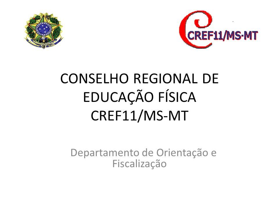 CONSELHO REGIONAL DE EDUCAÇÃO FÍSICA CREF11/MS-MT