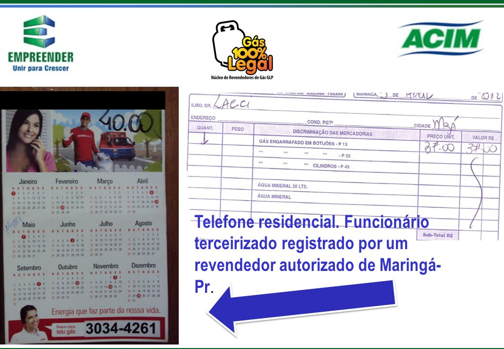 Telefone residencial.