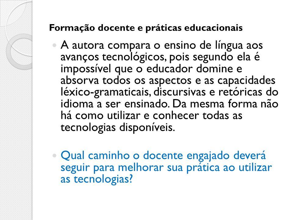 Formação docente e práticas educacionais