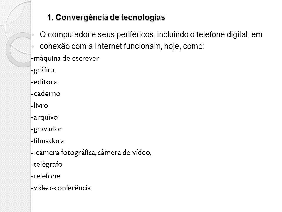 1. Convergência de tecnologias
