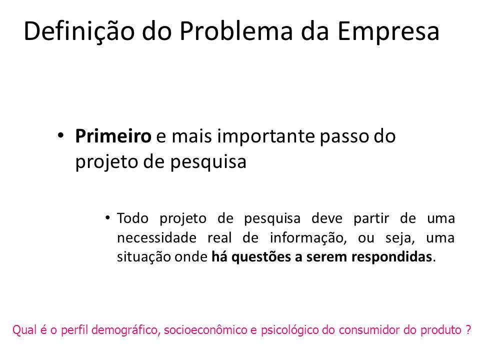 Definição do Problema da Empresa