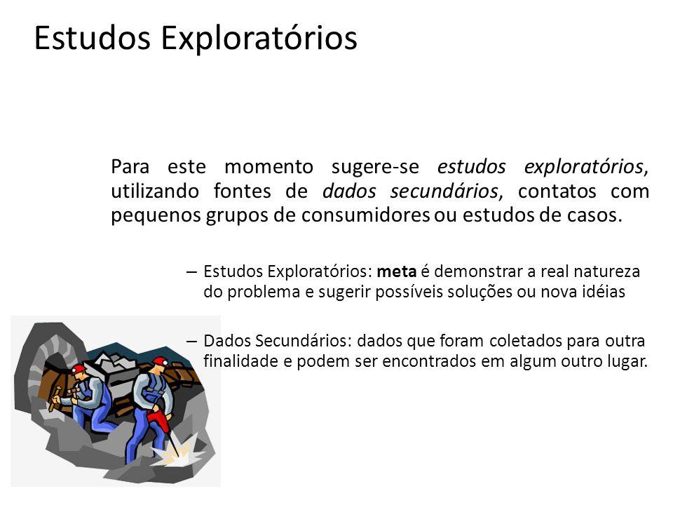 Estudos Exploratórios