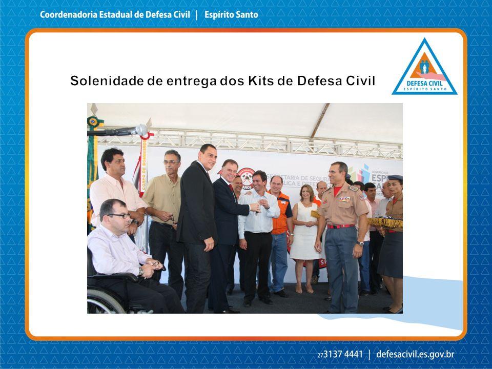 Solenidade de entrega dos Kits de Defesa Civil