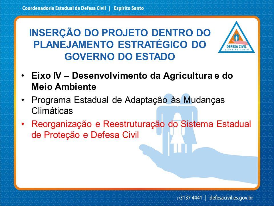 INSERÇÃO DO PROJETO DENTRO DO PLANEJAMENTO ESTRATÉGICO DO GOVERNO DO ESTADO