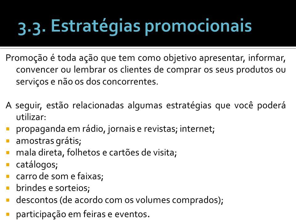 3.3. Estratégias promocionais