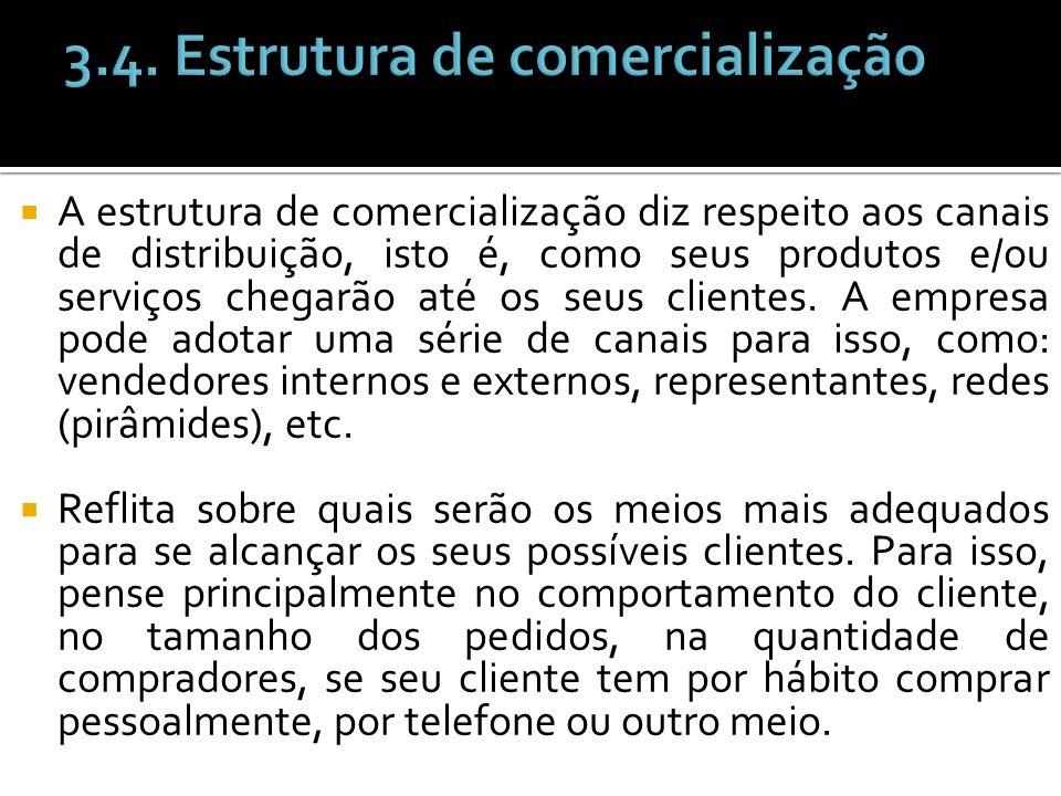 3.4. Estrutura de comercialização