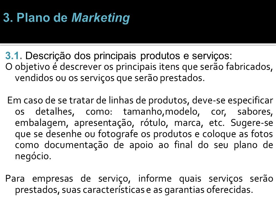 3. Plano de Marketing