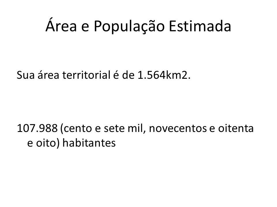 Área e População Estimada