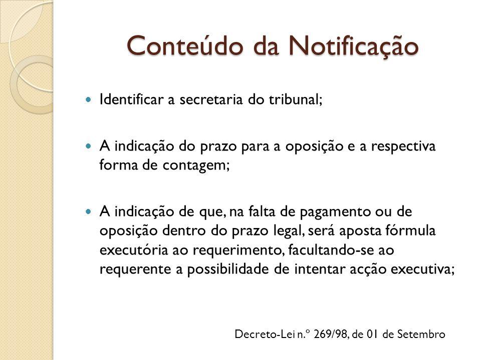 Conteúdo da Notificação