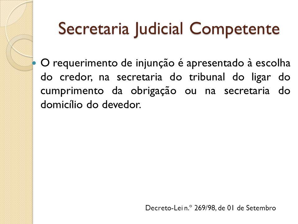 Secretaria Judicial Competente