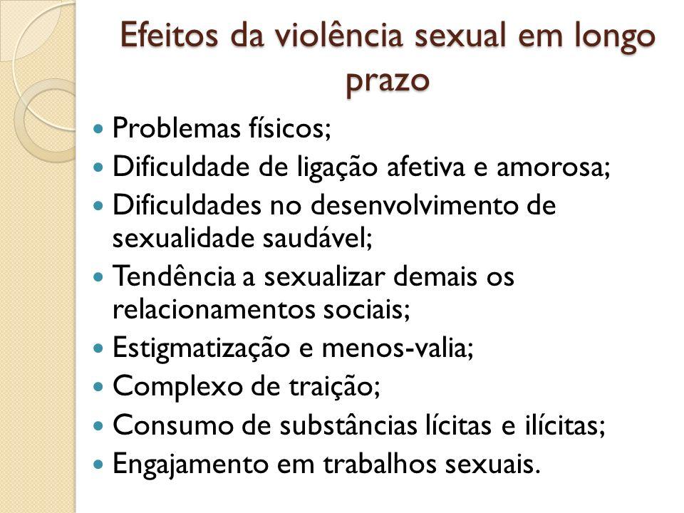 Efeitos da violência sexual em longo prazo