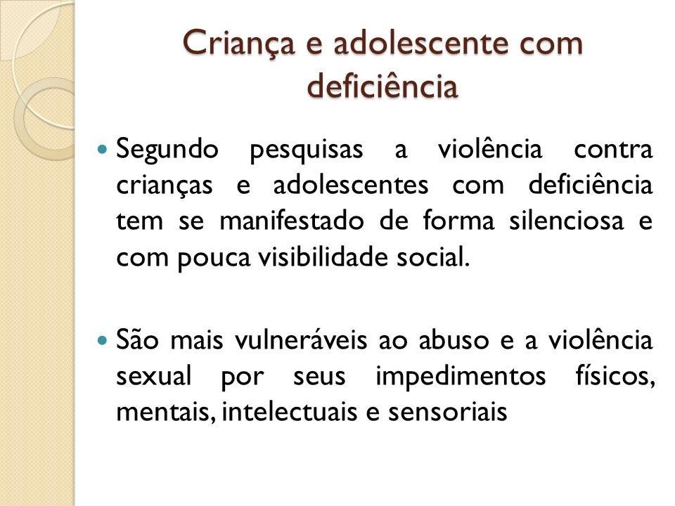 Criança e adolescente com deficiência