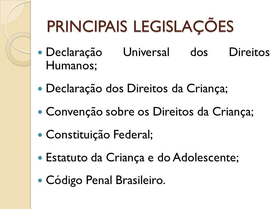 PRINCIPAIS LEGISLAÇÕES
