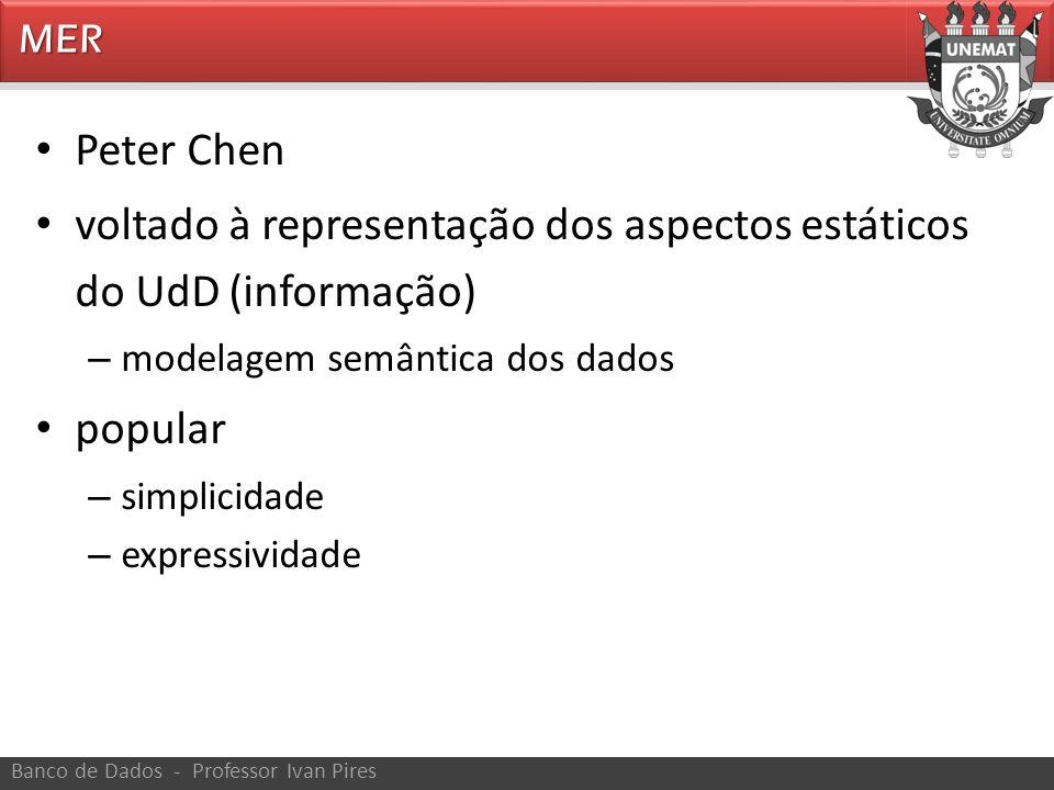voltado à representação dos aspectos estáticos do UdD (informação)