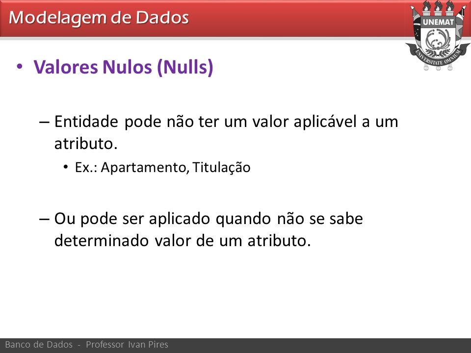 Valores Nulos (Nulls) Modelagem de Dados