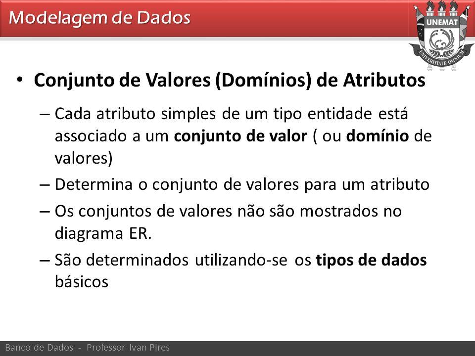 Conjunto de Valores (Domínios) de Atributos