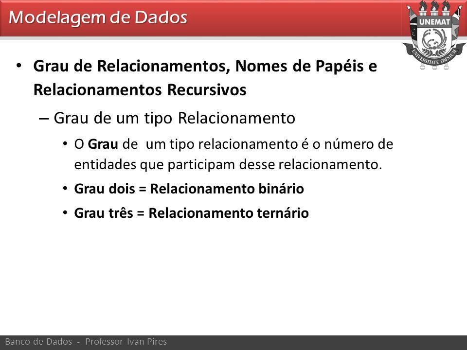 Grau de Relacionamentos, Nomes de Papéis e Relacionamentos Recursivos