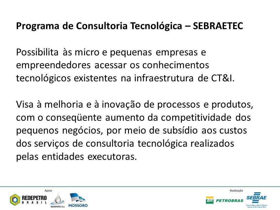 Programa de Consultoria Tecnológica – SEBRAETEC