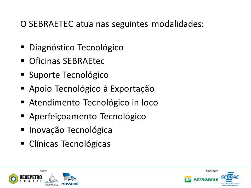 O SEBRAETEC atua nas seguintes modalidades:
