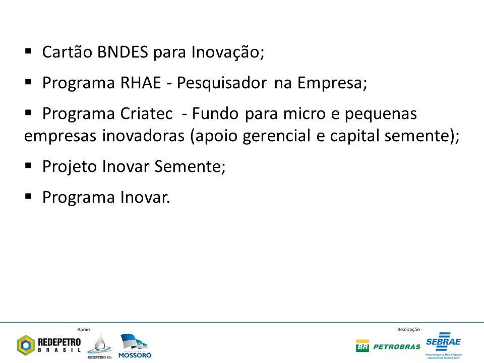 Cartão BNDES para Inovação;
