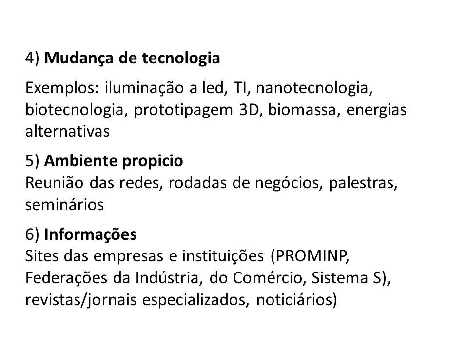 4) Mudança de tecnologia
