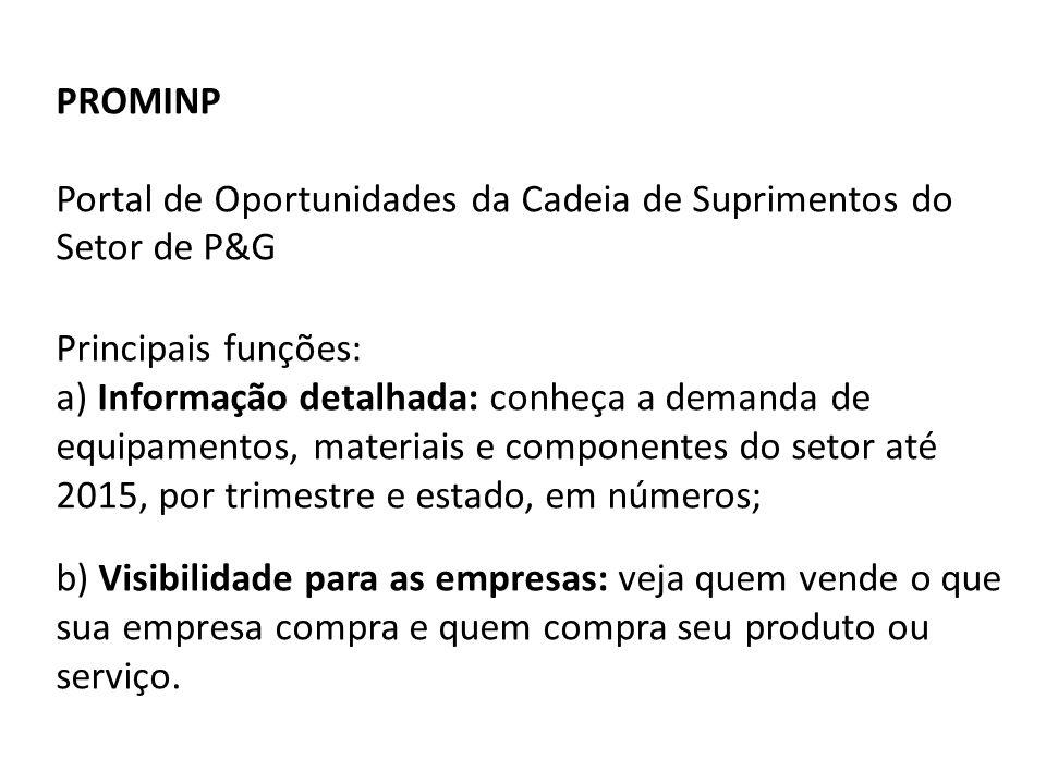 PROMINP Portal de Oportunidades da Cadeia de Suprimentos do Setor de P&G.