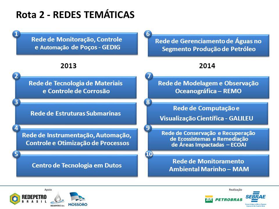 Rota 2 - REDES TEMÁTICAS 2013 2014 Rede de Monitoração, Controle