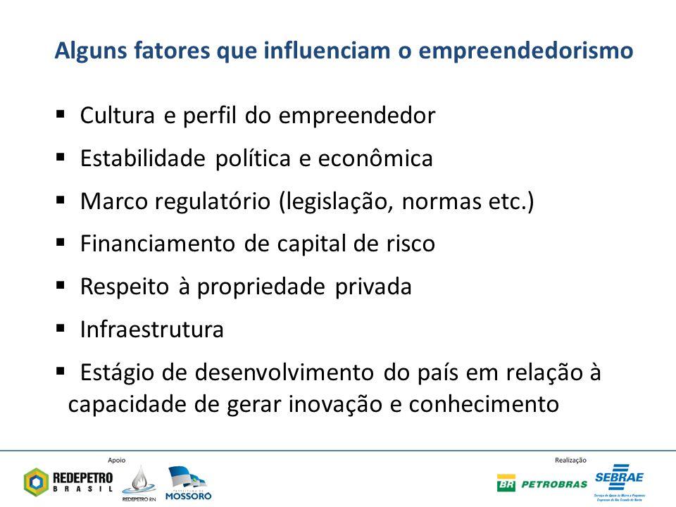Alguns fatores que influenciam o empreendedorismo