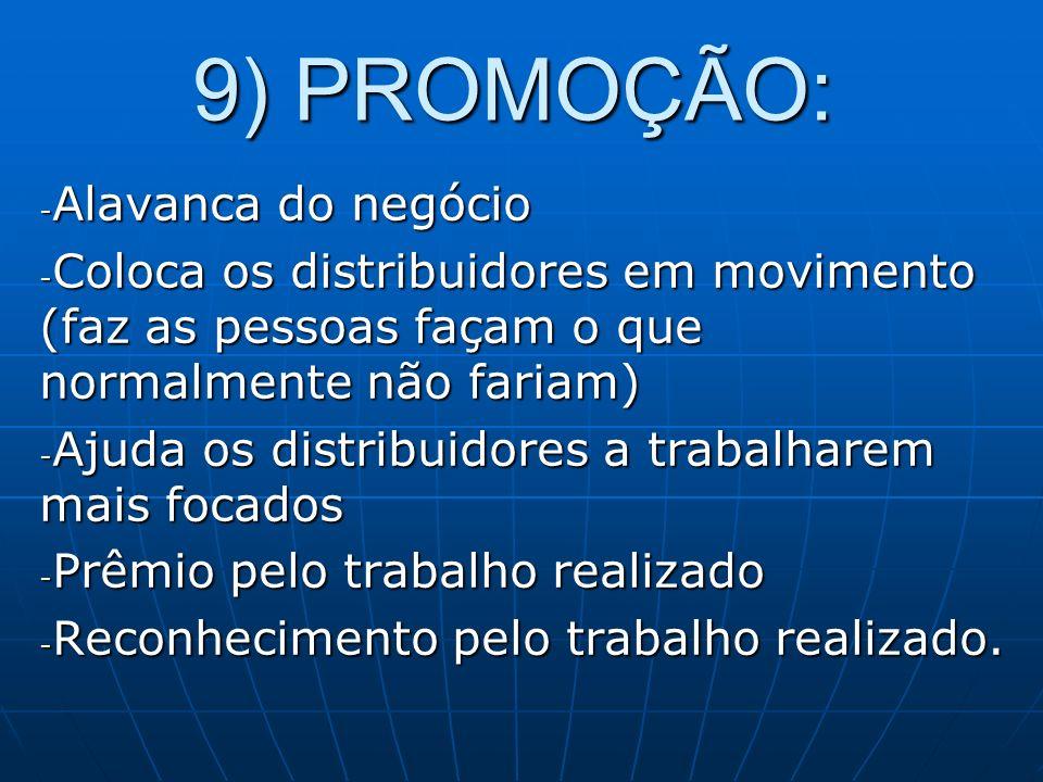 9) PROMOÇÃO: Alavanca do negócio