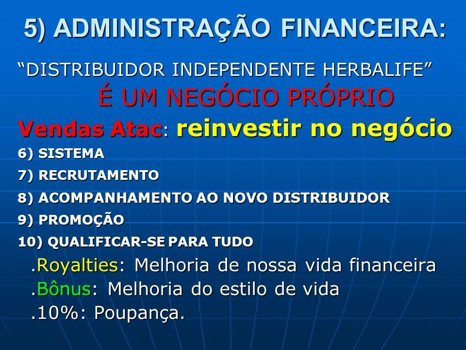 5) ADMINISTRAÇÃO FINANCEIRA: