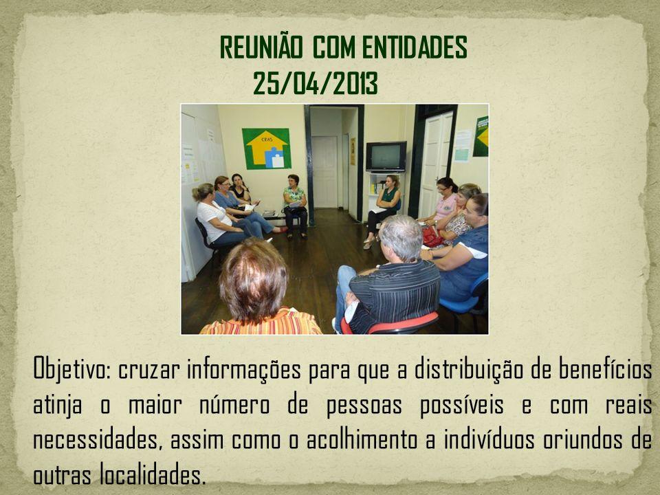REUNIÃO COM ENTIDADES 25/04/2013.