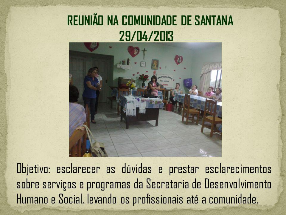 REUNIÃO NA COMUNIDADE DE SANTANA