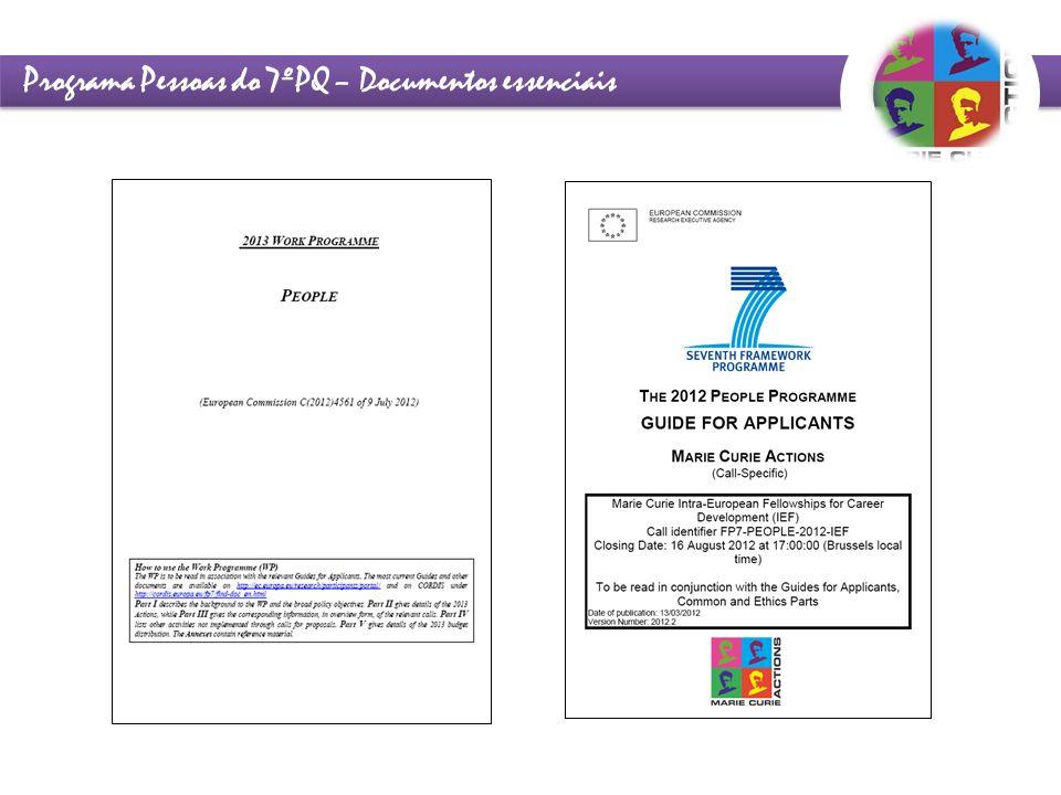 Programa Pessoas do 7ºPQ – Documentos essenciais