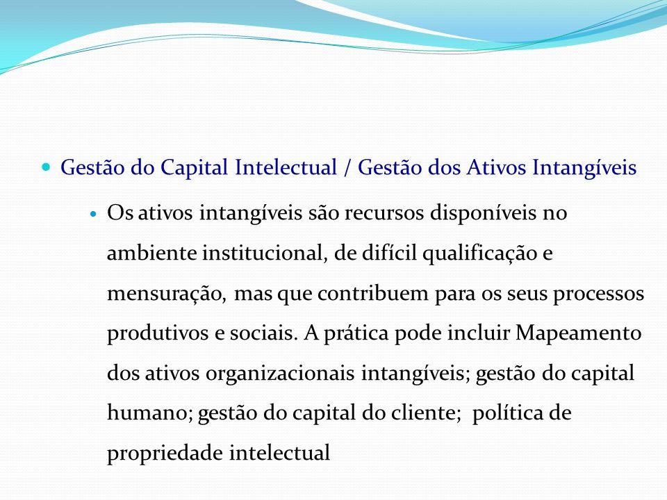 Gestão do Capital Intelectual / Gestão dos Ativos Intangíveis
