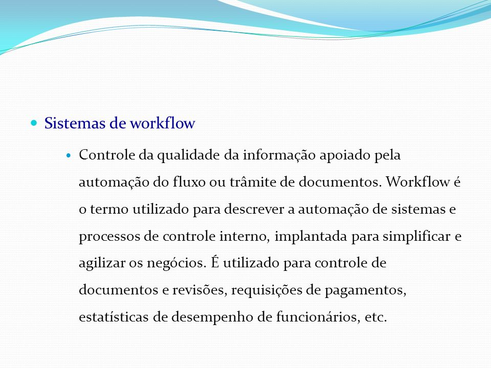 Sistemas de workflow