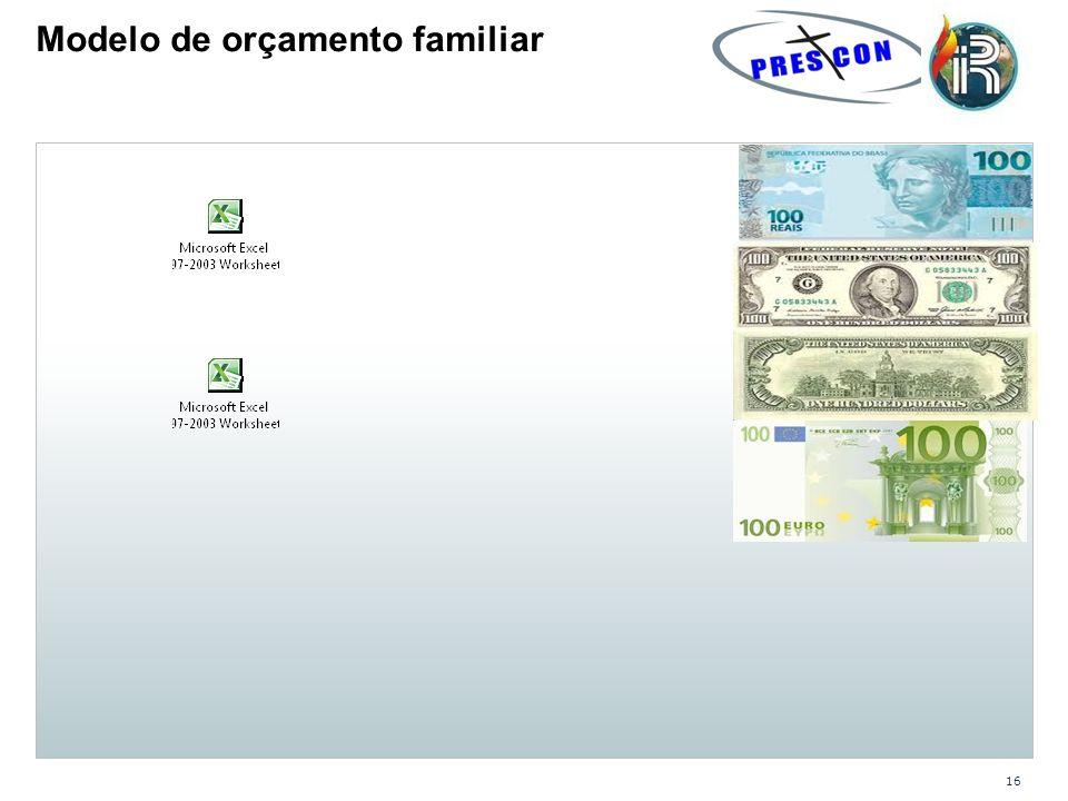Modelo de orçamento familiar
