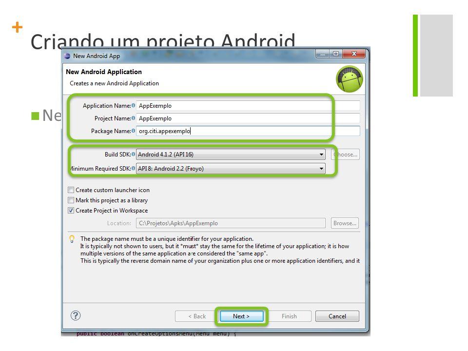 Criando um projeto Android