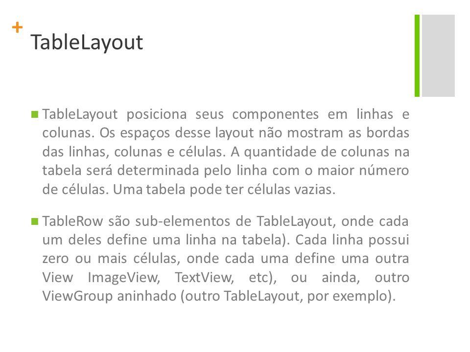 TableLayout