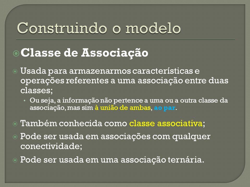 Construindo o modelo Classe de Associação