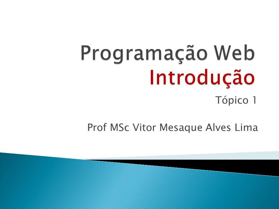 Programação Web Introdução