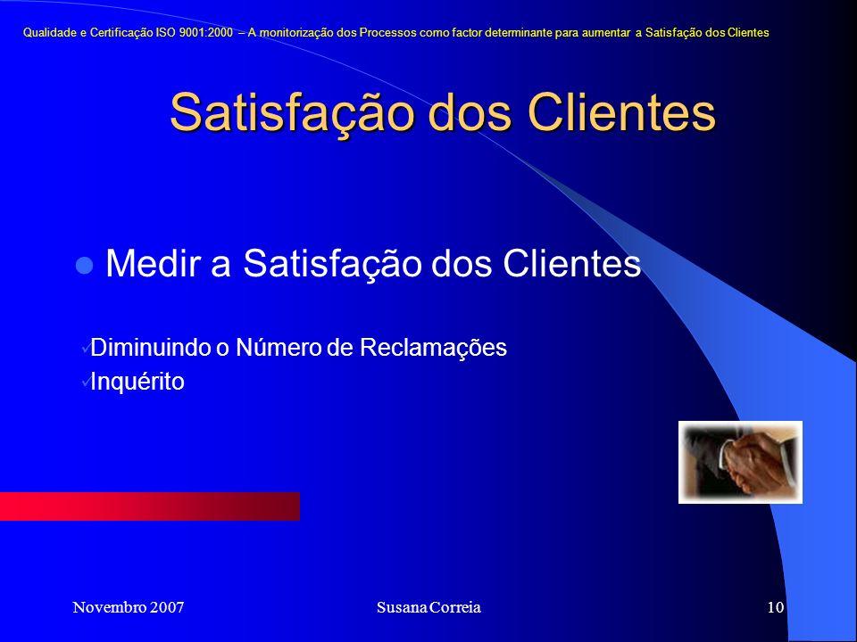 Satisfação dos Clientes