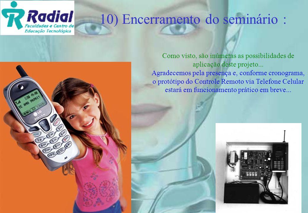 10) Encerramento do seminário :